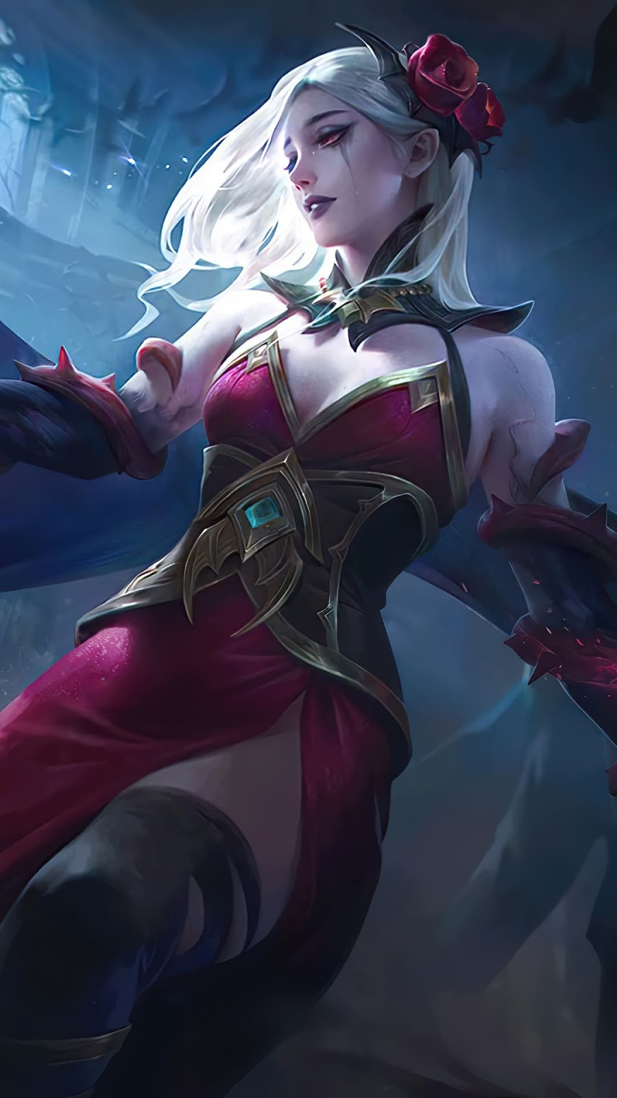 Wallpaper Carmilla Shadow of Twilight Skin Mobile Legends HD for Mobile