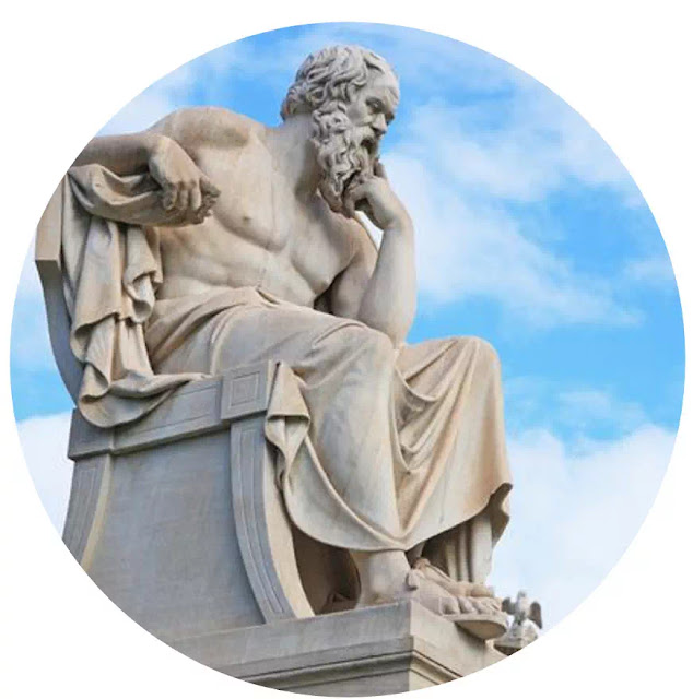 Socrates (469-399 S.M)   Socrates adalah seorang filsuf Yunani klasik, juga dikenal sebagai salah satu pendiri filsafat Barat maupun filsuf moral pertama dari tradisi pemikiran etis barat.  Socrates memiliki cara berpikir dialektis dimana pemikiran Socrates mengandung unsur-unsur:  a. These -  Negara Tuhan  b.    Autithese  -  Negara Alam  c.    Synthese  - Manusia yang memenuhi dunia abadi (Tuhan) dan dunia alam.