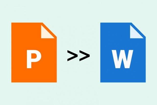Cara Mengonversi File PowerPoint ke Word 2020 [ PPT ke Doc ]