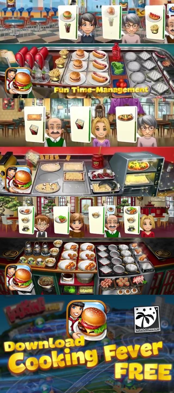 10 เกมทําอาหารเล่นบนมือถือ 4.  Cooking Fever , เกม, เกมส์, เกมทำขนม, เกมส์ทำอาหาร, เกมส์ทำอาหารน่าเล่น, เกมเสิร์ฟอาหาร, เกมปิ้งย่าง, เกมทำไอศครีม, เกมทำแฮมเบอร์เกอร์, เกมทำเครื่องดื่ม