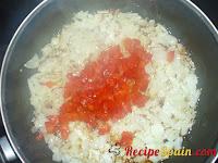 Chopped pepper in a pan