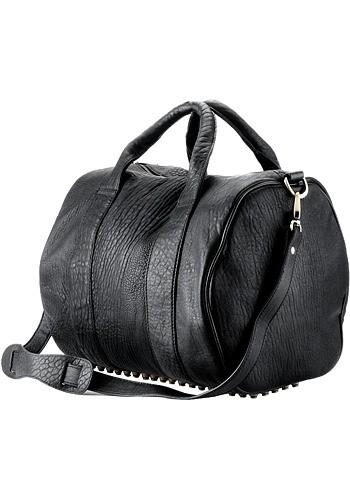 Alexa Studded Calfskin Leather Bag Black  Price   159.00 0b7c3773652a4