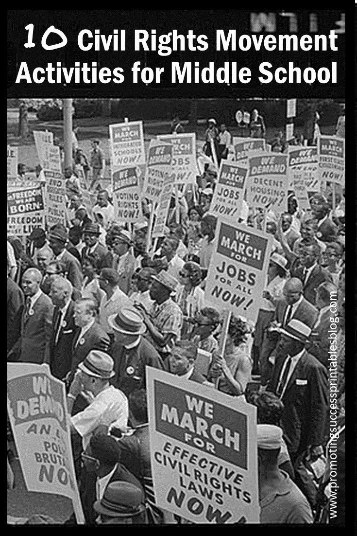 small resolution of Promoting Success: 10 Civil Rights Movement Activities for Kids
