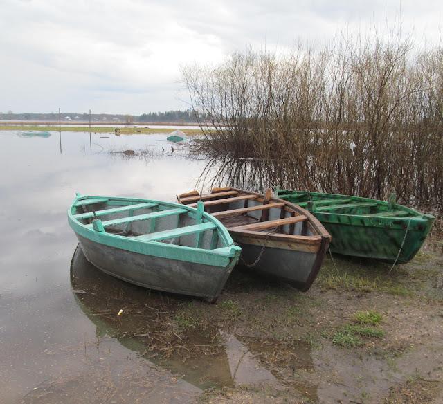 лодки у берега в полной готовности