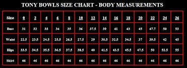 Tony bowls as  well known designer all over the world concentrate on details very much they had measured many sizes of different people in also enter fashion and dresses size chart rh laradressspot