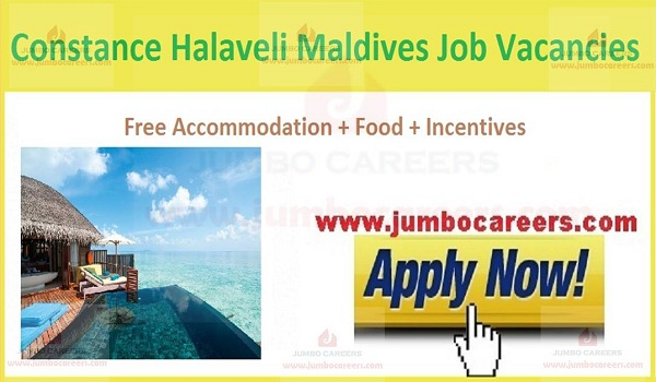 Available resort jobs in Maldives, Jobs with accommodation,