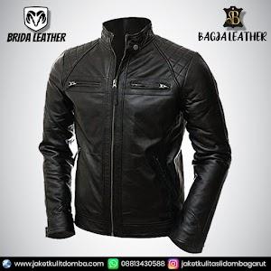 Jual Jaket Kulit Asli Garut Pria Domba Original Brida Leather B50   WA 08813430588