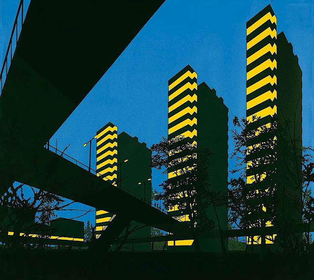 David Thorpe towers in blue yellow and black