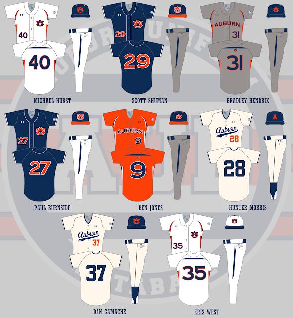 auburn baseball 2009 uniforms