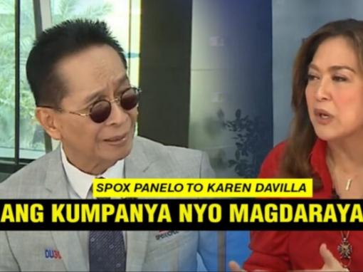 WATCH: Karen Davila harapang sinupalpal ni Spox Panela sa interview