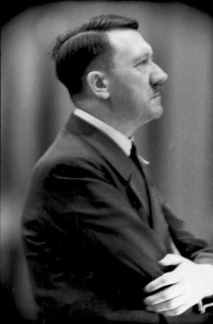 Adolf Hitler giving a speech on the anniversary of his assump of power, 30 January 1942 worldwartwo.filminspector.com