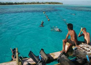 Kiribati clam farming