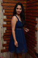 Radhika Mehrotra in a Deep neck Sleeveless Blue Dress at Mirchi Music Awards South 2017 ~  Exclusive Celebrities Galleries 092.jpg