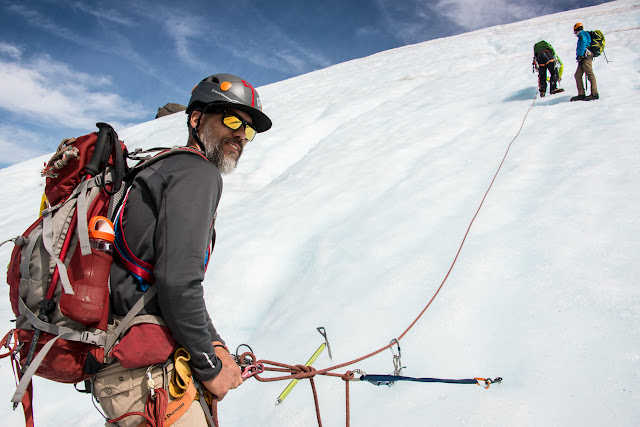 walking the matchlee glacier