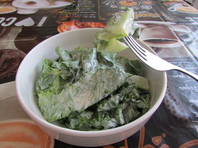 zielona sałata na słodko