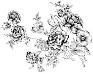 bunga kartun lukisan