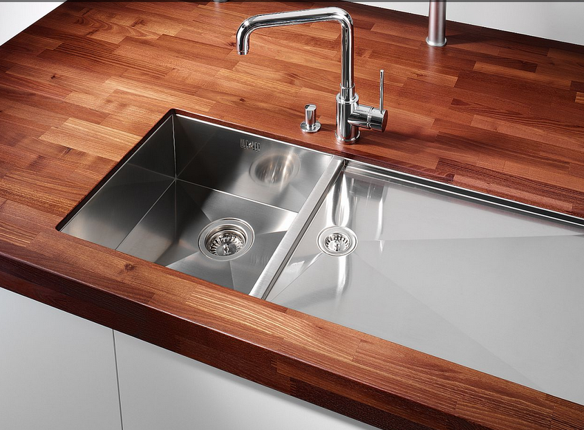 Encimeras de madera apostando por lo natural cocinas for Mejor material para encimeras de cocina