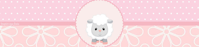 Baby Lamb in Pink Free Printable Labels.