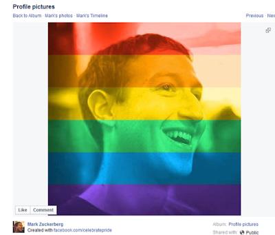 Facebook founder Mark Zuckerberg announce the rainbow flag tool