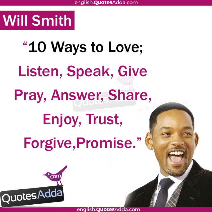 Will Smith Love Quotes Impressive Quotesadda English  Google