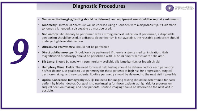 Tele Ophthalmology diagnostic procedure covid 19