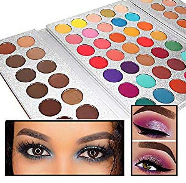 Ladies Kit: 63-Color Eyeshadow Makeup Beauty Set with Brushes for Women