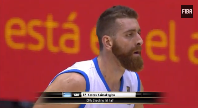 741c2968d21 Watch out for Greece s Kostas Kaimakoglou. He s the 6-9 guy with the beard.  Sort of Greek James Harden. He scored a team-high 17 points