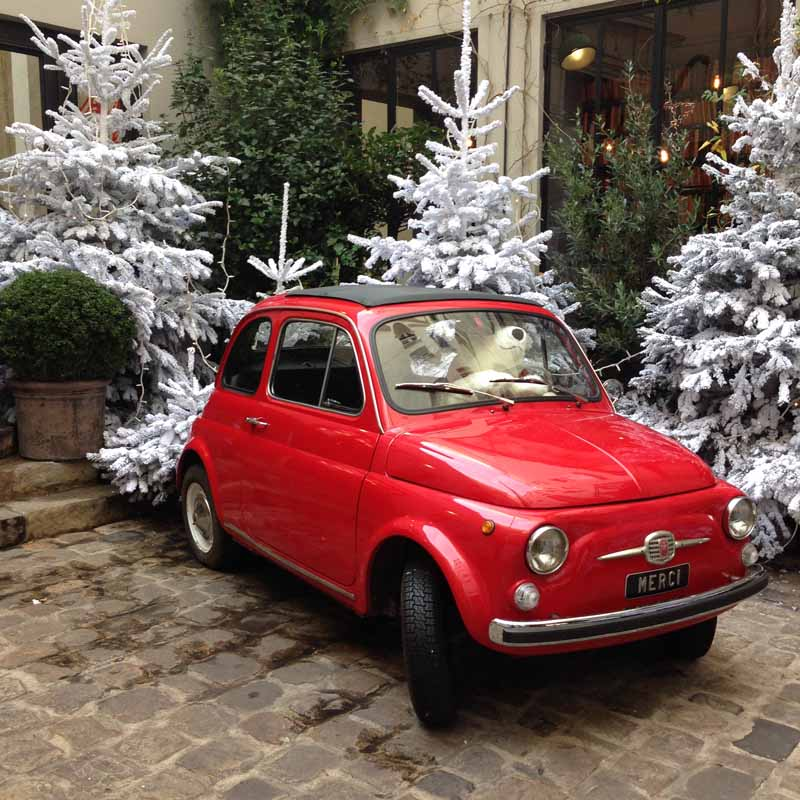Fiat 500 Merci Paris shopping