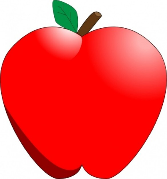 apple clip cartoon summer end coming