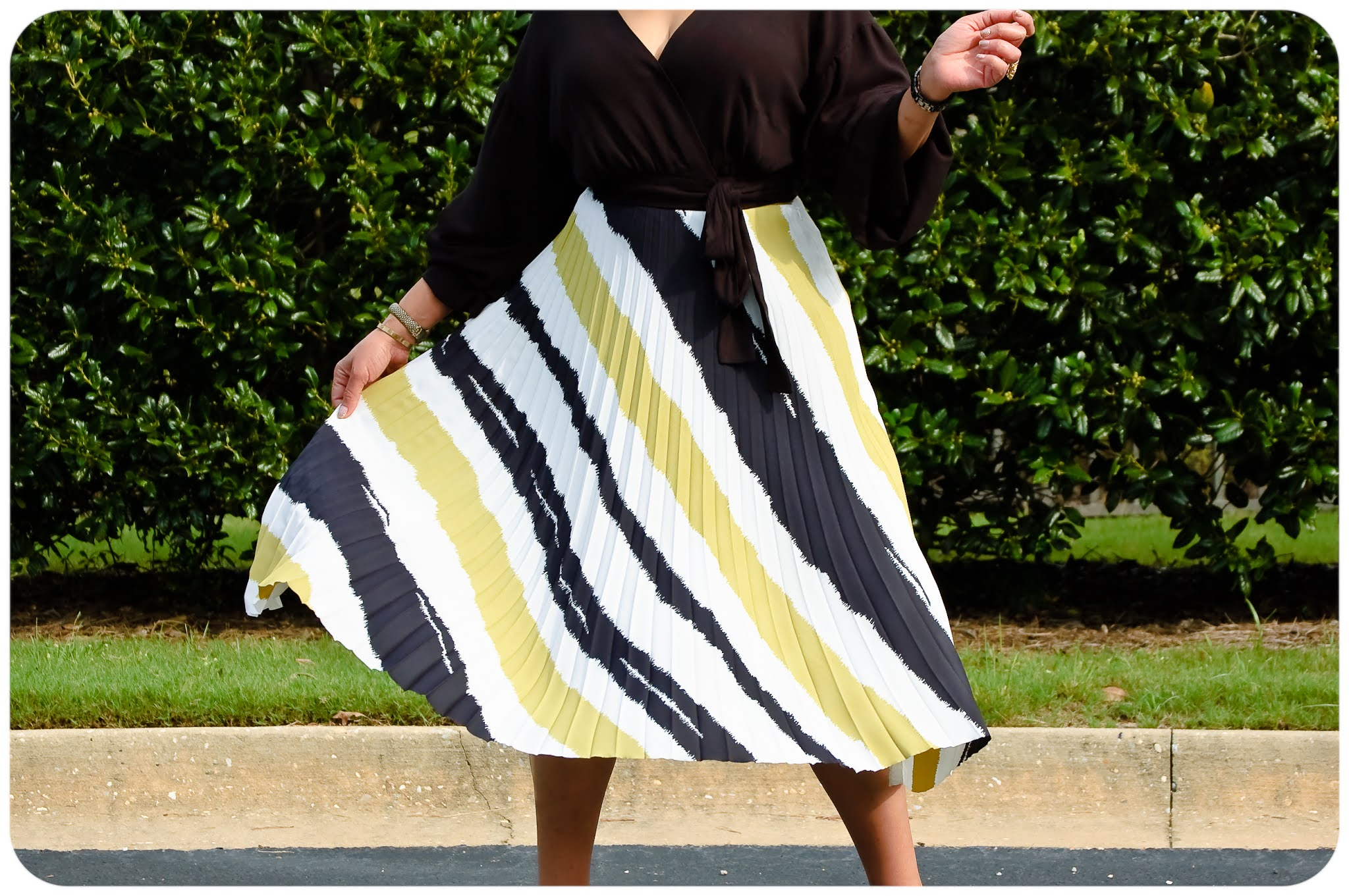 Threadymade Painted Stripe Sunburst Monroe Skirt - Erica Bunker DIY Style!