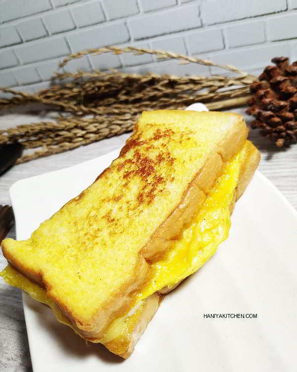Cara Membuat Roti Lapis Lipat Telur Keju | One pan egg toast