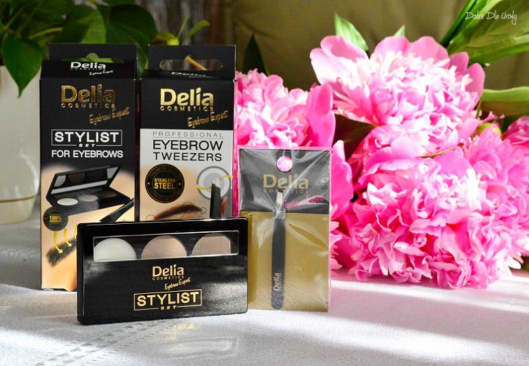 Zestaw do stylizacji brwi oraz pęseta do brwi Eyebrow Expert Delia Cosmetics