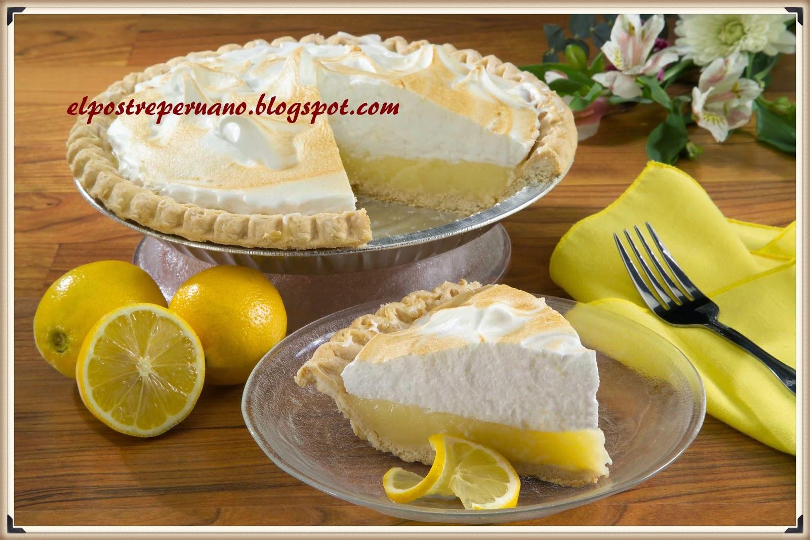 receta del pie de limón, postre sencillo y delicioso