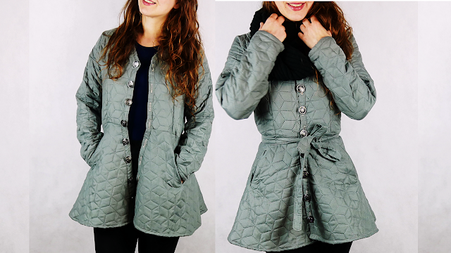 diy coat with free pattern, sparrow refashion youtube