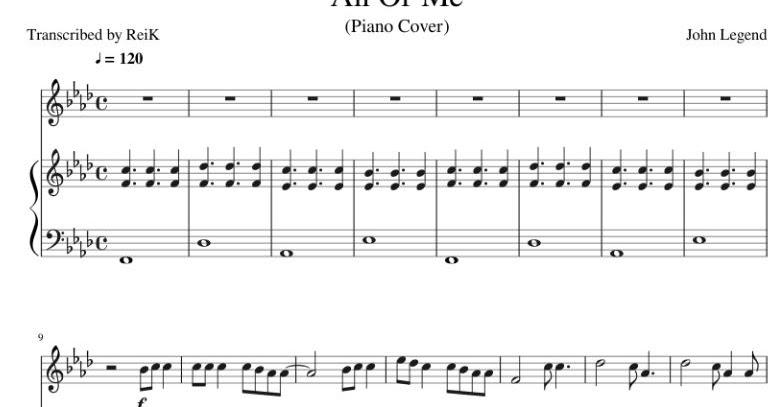 all of me piano sheet music free - Monza berglauf-verband com