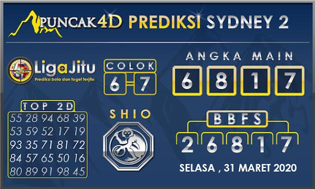PREDIKSI TOGEL SYDNEY2 PUNCAK4D 31 MARET 2020