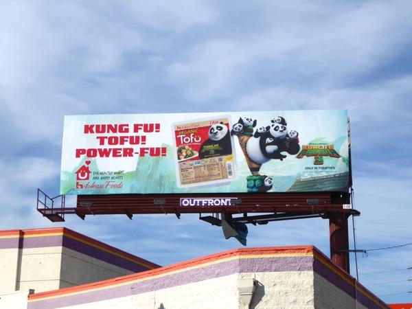 Kung Fu Panda 3 tofu promo billboard