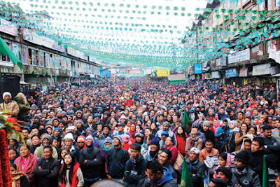 GNLF meeting in Darjeeling