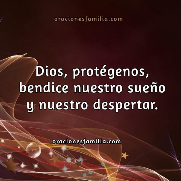 Frases con Oración de Protección y Buenas Noches, imágenes cristianas con oraciones por Mery Bracho.
