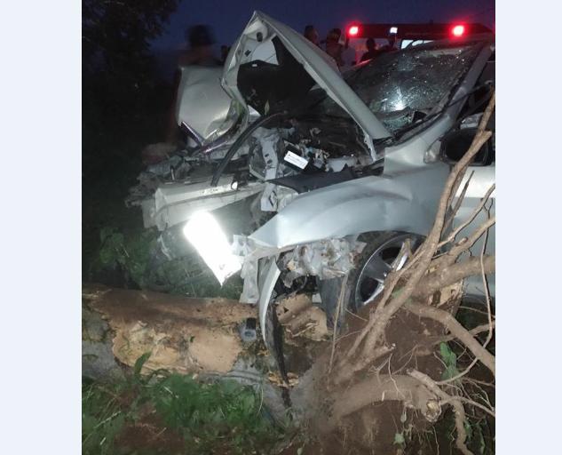 Em Pão de Açúcar/AL, condutor perde controle de veículo  colide em   cerca de arames e  árvore   na AL-130