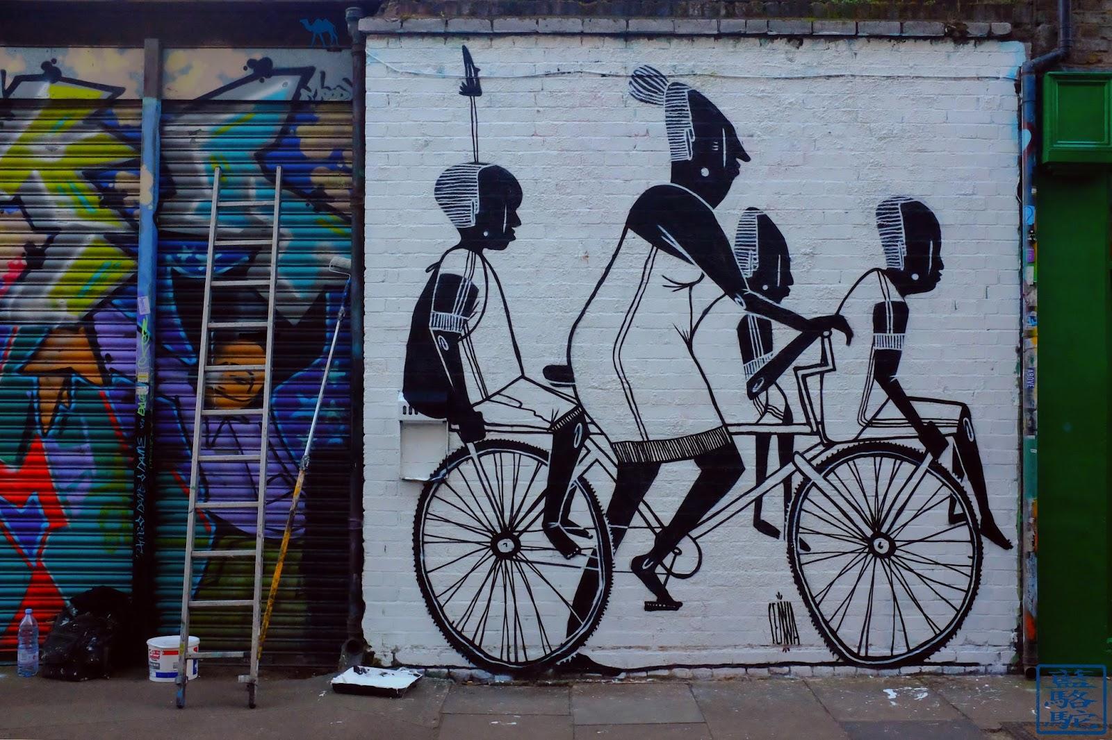 Le Chameau Bleu - Street Art à Shoreditch - Londres - Angleterre