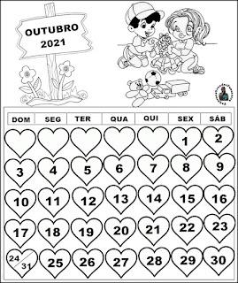Calendário Educação Infantil 2021