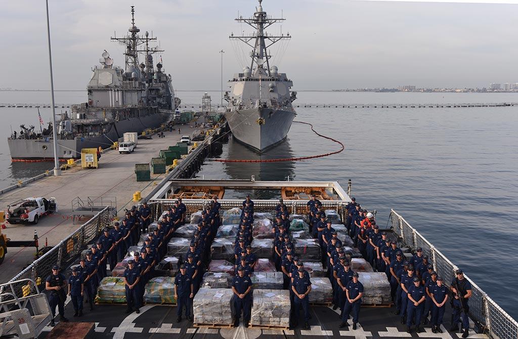 Estados Unidos saca 206 toneladas de cocaína del Océano Pacífico en un año