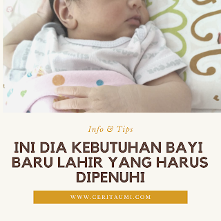 Kebutuhan bayi baru lahir yang harus dipenuhi