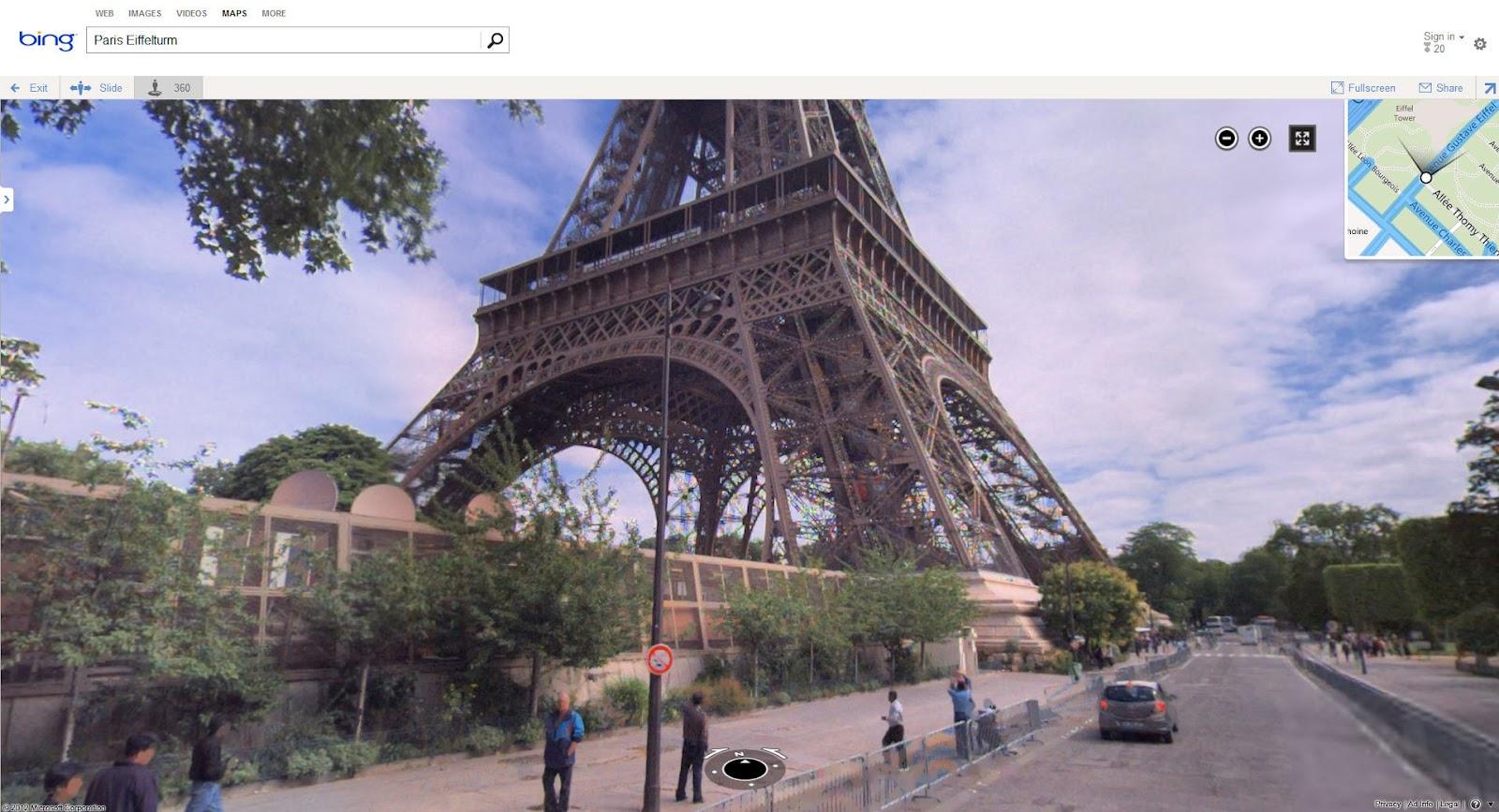 "Landkartenblog: Microsoft Bing Streetview ""Streetside"" Ist"
