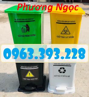 Thùng rác y tế 15L đạp chân, thùng rác nhựa, thùng rác y tế, thùng rác đạp chân 15L