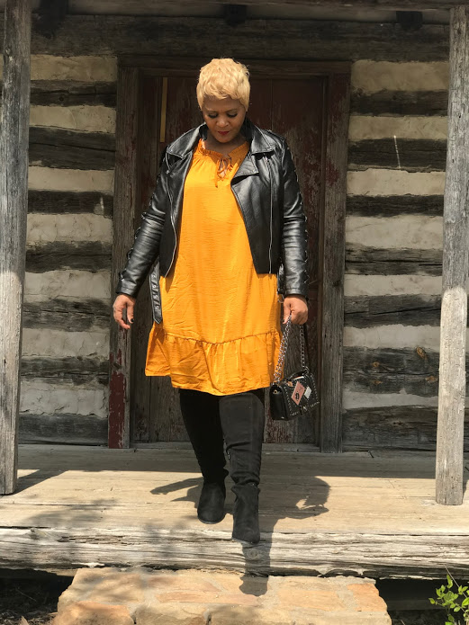 Tangie Bell is sharing her second attempt at shopping and how she plans to style a yellow dress with boots, and jacket from last year