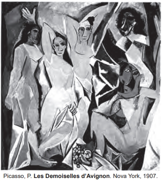 Picasso, P. Les Demoiselles d'Avignon. Nova York, 1907.
