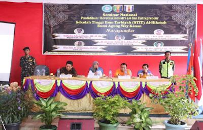 Wagub Chusnunia Beri Kuliah Umum Tentang Revolusi Industri 4.0 di Kampus STIT Al-Hikman Way Kanan